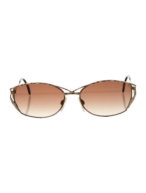 Cazal Round Tinted Sunglasses Black