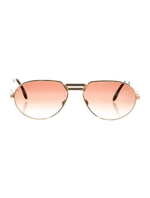 Cazal Tinted Aviator Sunglasses brown