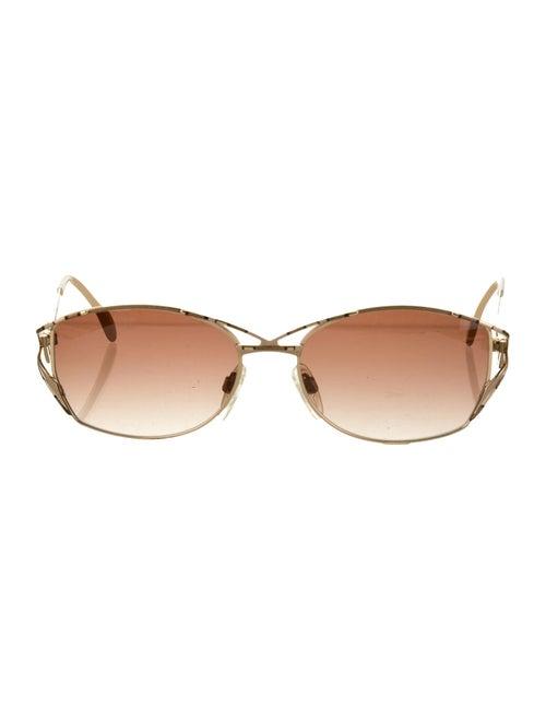 Cazal Tinted Square Sunglasses cream
