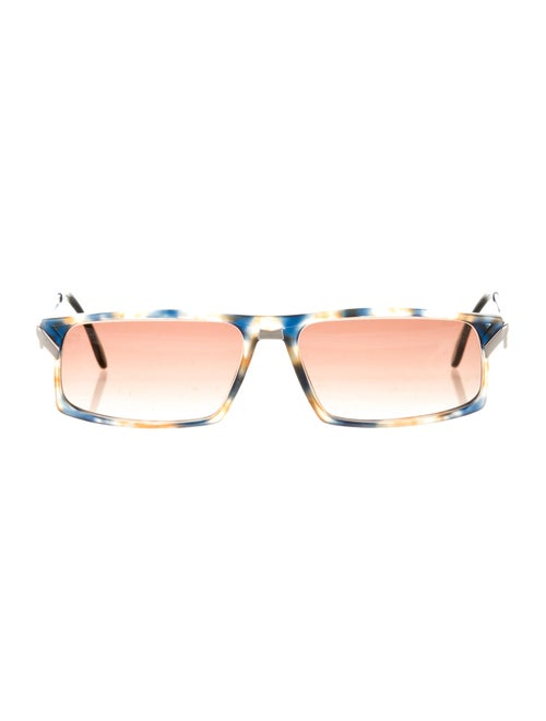 Cazal Square Tinted Sunglasses blue