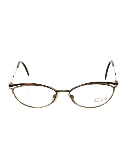 Cazal Narrow Tinted Sunglasses Gold