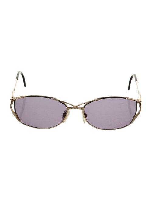 Cazal Round Tinted Sunglasses Gold