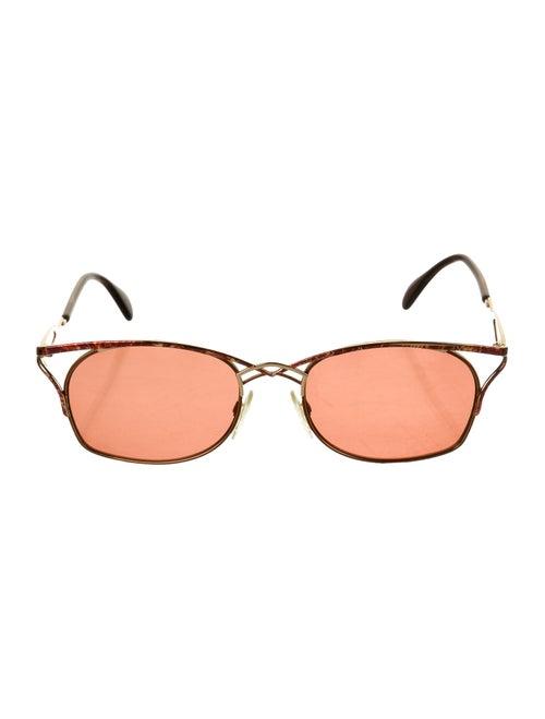 Cazal Tinted Round Sunglasses red