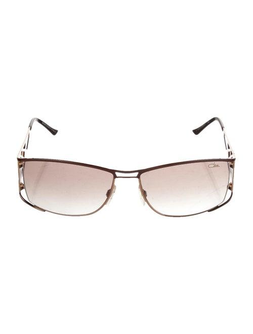 Cazal Square Gradient Sunglasses Brown