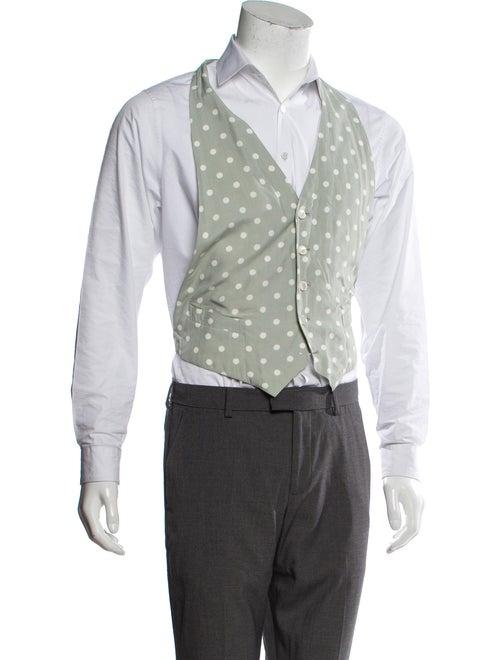 Comme des Garçons Homme Plus Printed Suit Vest whi