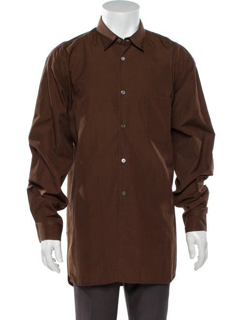 Comme des Garçons Shirt Long Sleeve Shirt Brown