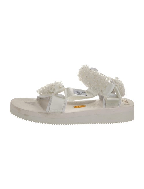 Cecilie Bahnsen 2020 Beaded Accents Sandals White