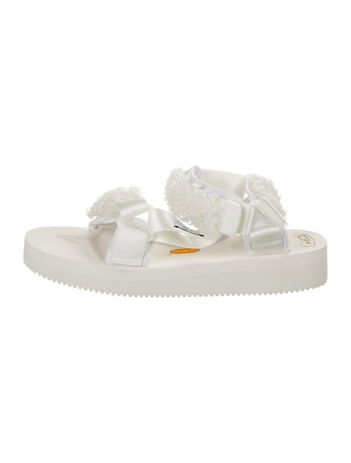Cecilie Bahnsen Beaded Accents Sandals White