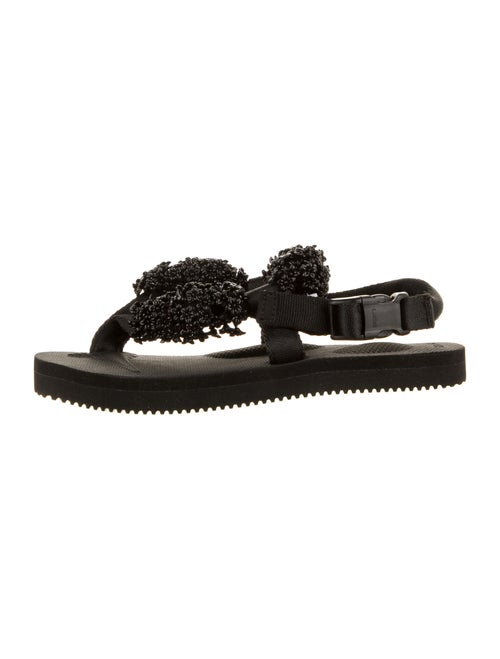 Cecilie Bahnsen Beaded Accents Sandals Black