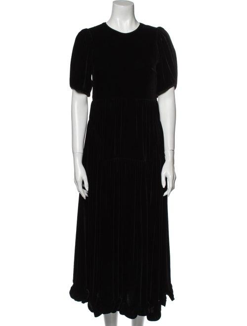 Cecilie Bahnsen 2020 Long Dress Black