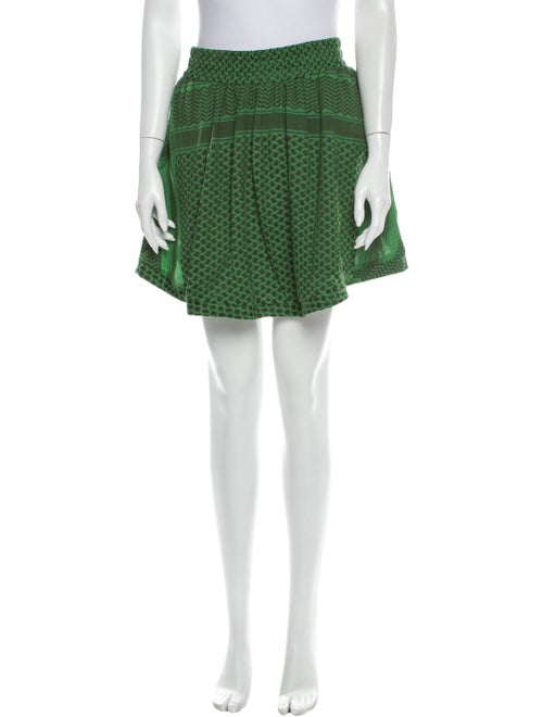 Cecilie Copenhagen Printed Mini Skirt Green