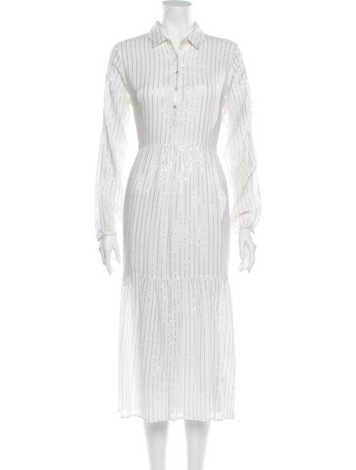 Cecilie Copenhagen Striped Long Dress w/ Tags Gold