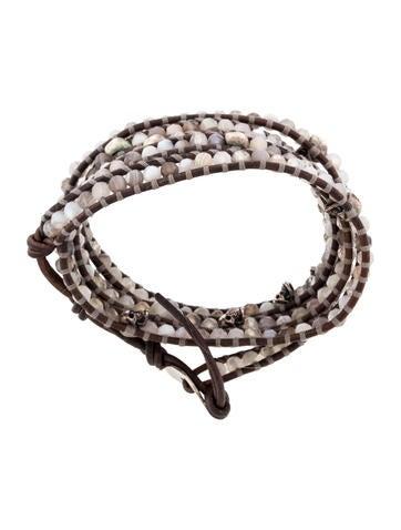 Chan Luu Agate & Quartz Skull Wrap Bracelet - Bracelets ...