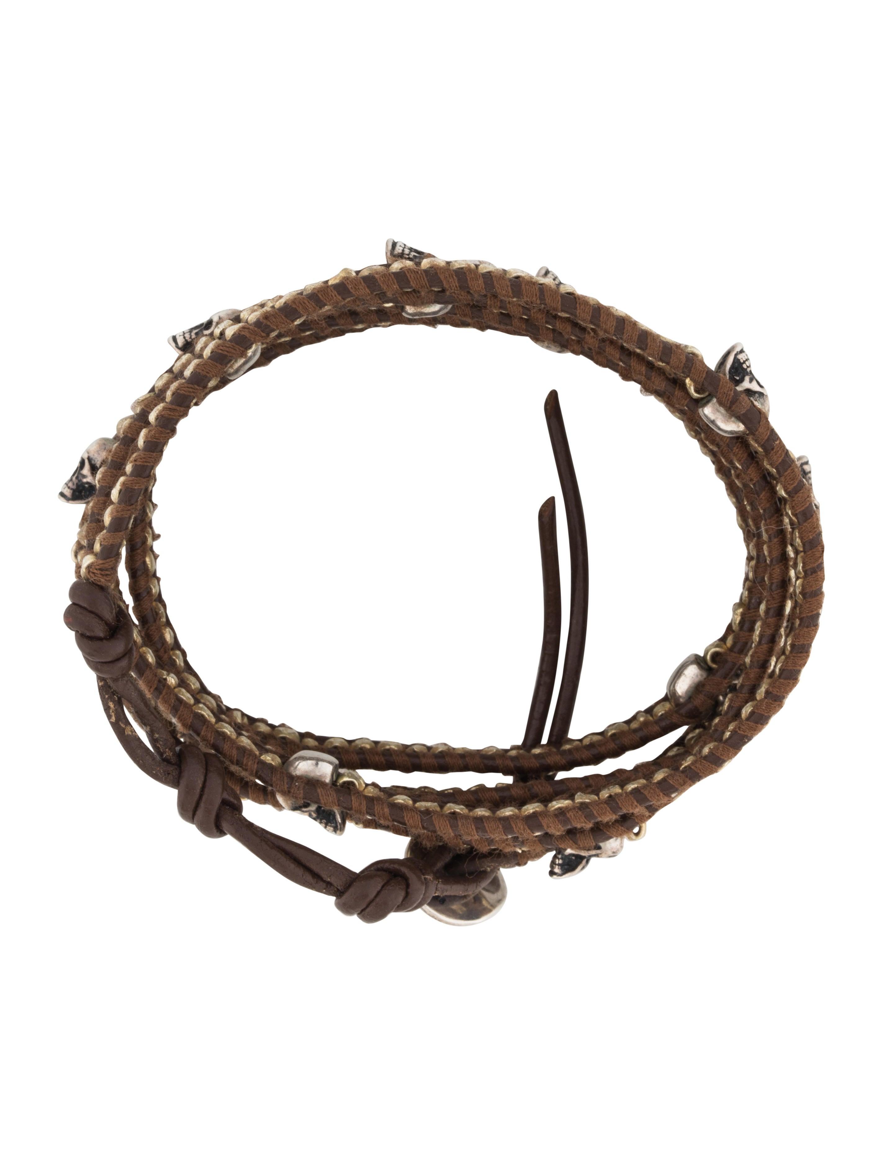 Chan Luu Skull Nugget Bead Wrap Bracelet - Bracelets ...