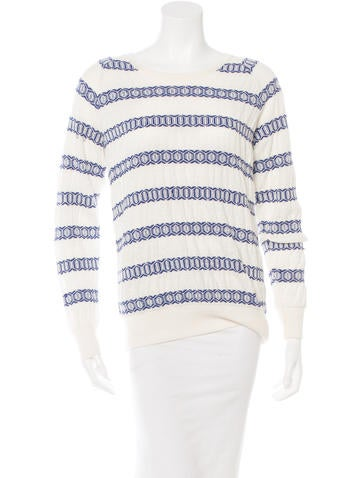 Closed Patterned Knit Sweater w/ Tags None