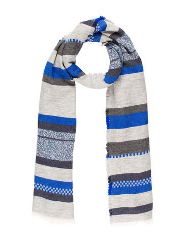 Closed Printed Wool Scarf None