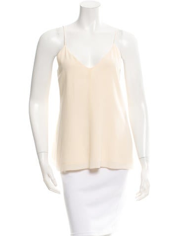 Closed Silk A-Line Top w/ Tags None