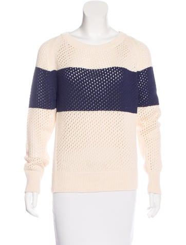 Closed Striped Raglan Sleeve Sweater w/ Tags None