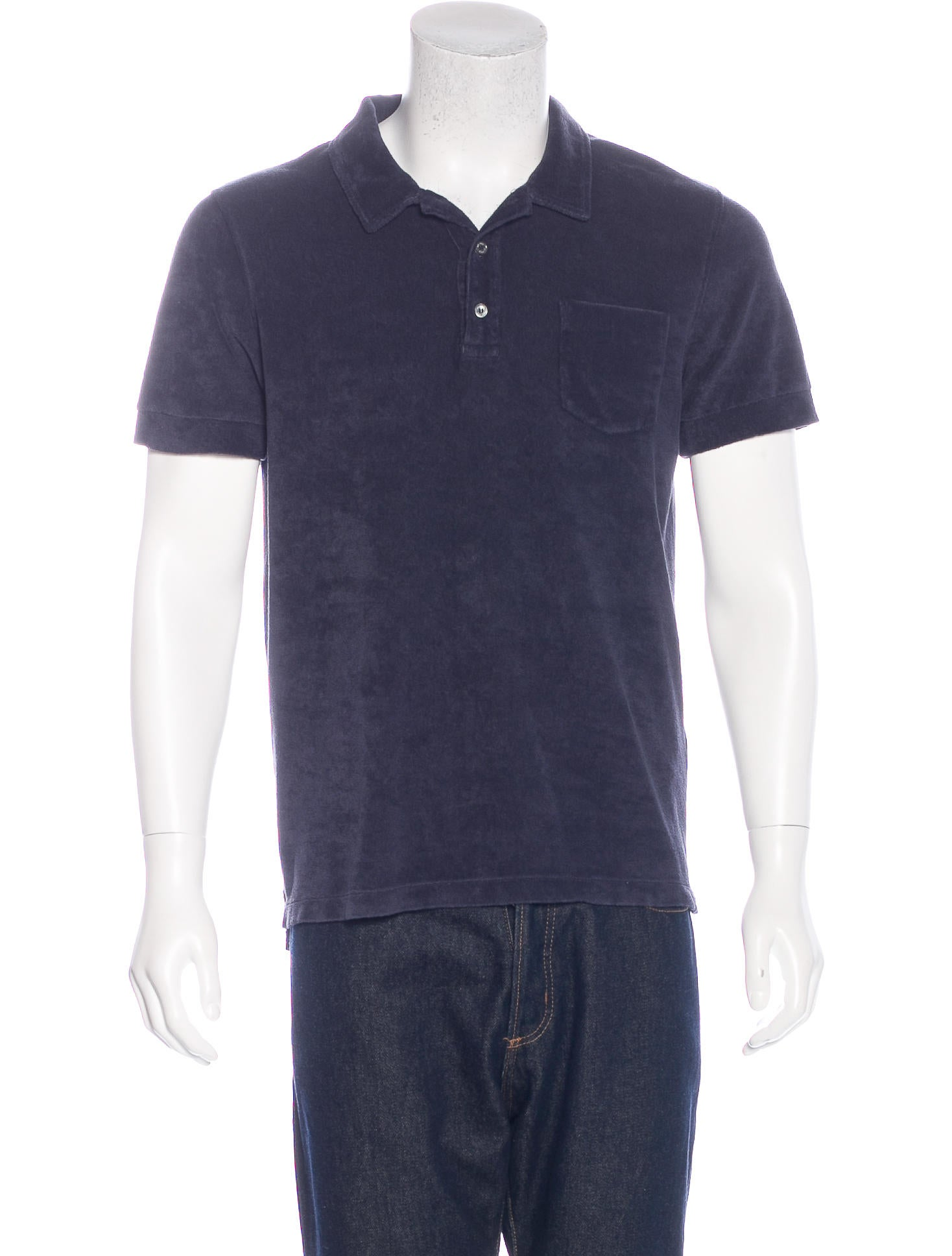 Closed terry cloth polo shirt w tags clothing for Mens terry cloth polo shirt