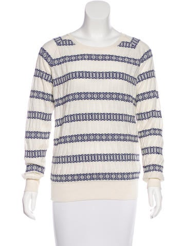 Closed Long Sleeve Embroidered Sweater None