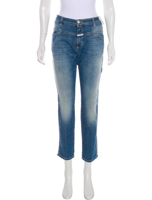 Closed Mid-Rise Straight Leg Jeans Blue