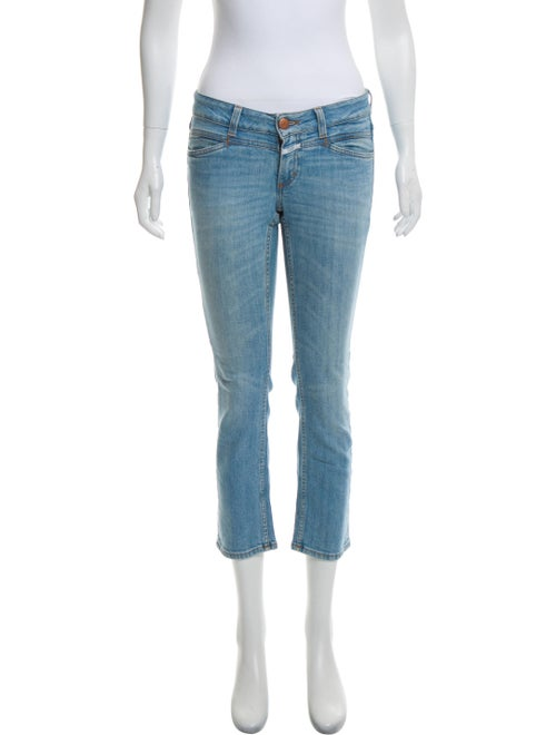Closed Low-Rise Straight-Leg Jeans blue