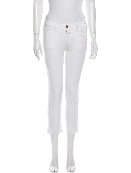 Closed Low-Rise Straight Leg Jeans w/ Tags White