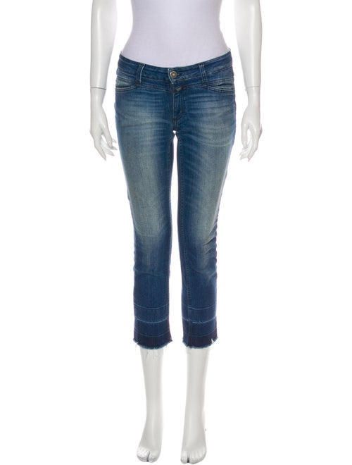 Closed Low-Rise Straight Leg Jeans Blue
