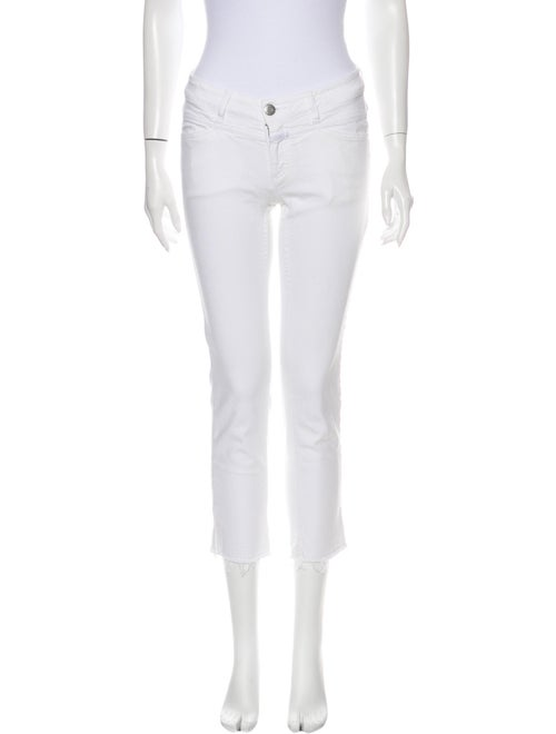 Closed Low-Rise Straight Leg Jeans White