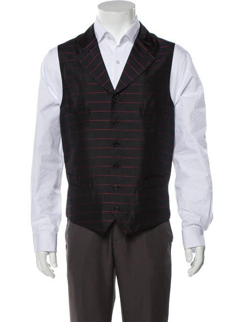 Comme des Garçons Homme Deux Silk Striped Suit Ves