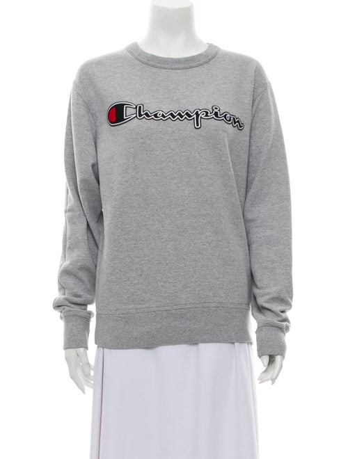 Champion Graphic Print Crew Neck Sweatshirt Grey