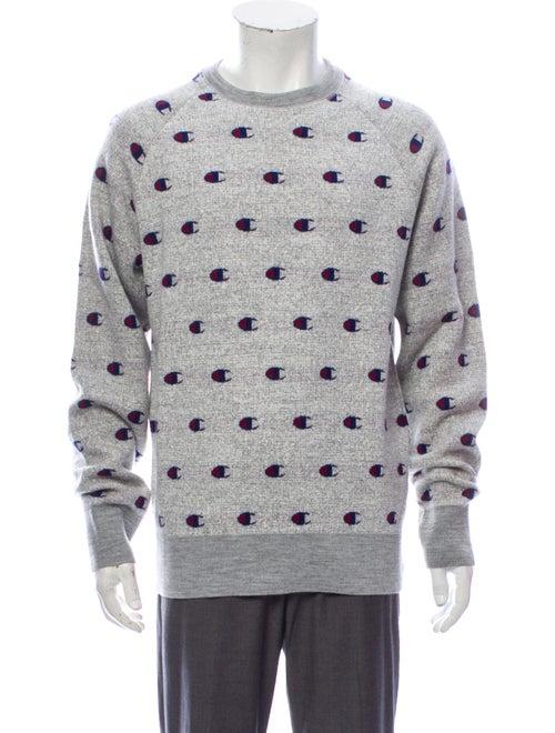 Champion Printed Crew Neck Sweatshirt w/ Tags Grey