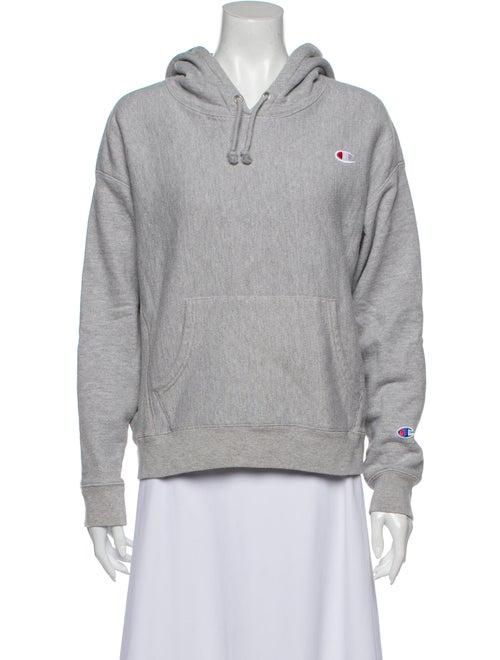 Champion Crew Neck Long Sleeve Sweatshirt Grey