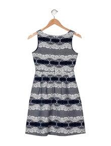 Charabia Girls' Printed Sleeveless Dress
