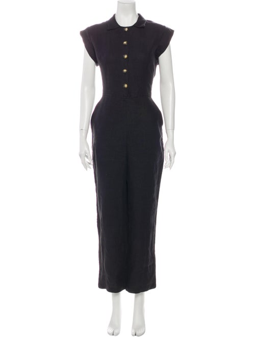Christy Dawn Linen Jumpsuit Black