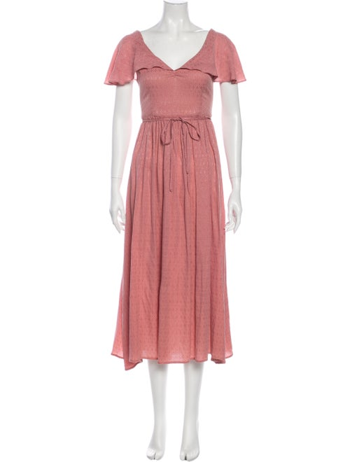 Christy Dawn V-Neck Long Dress Pink