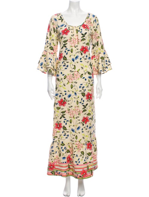 Christy Dawn Floral Print Long Dress
