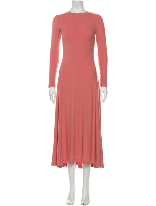 Christy Dawn Crew Neck Long Dress Pink