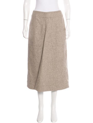 Christophe Lemaire Virgin Wool & Cashmere Skirt w/ Tags None