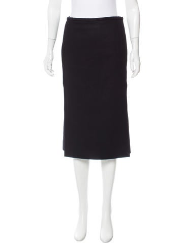 Christophe Lemaire Virgin Wool Pencil Skirt w/ Tags None