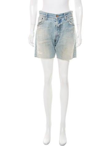 Chimala Distressed Denim Shorts None