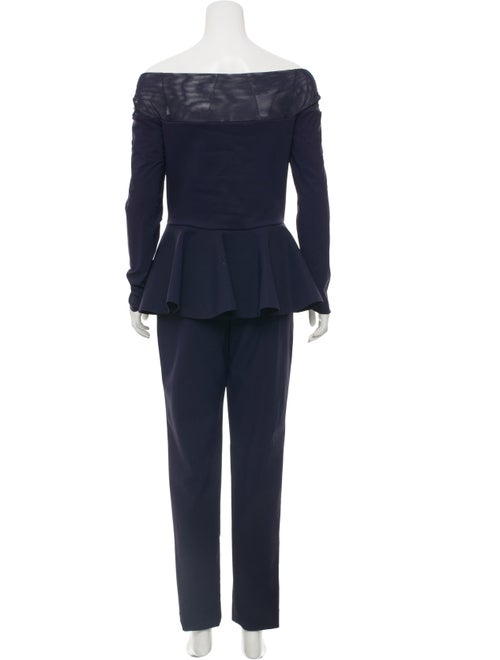 5e0c8926dad Chiara Boni Bow-Accented Semi-Sheer Jumpsuit - Clothing - WCHRA20823 ...