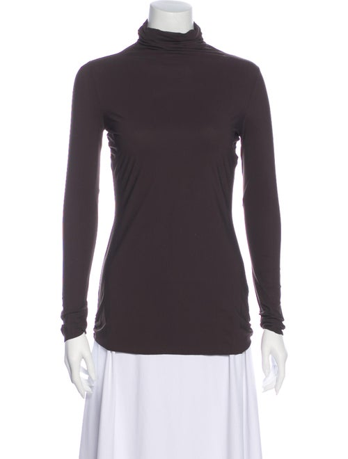 Chiara Boni Turtleneck Long Sleeve Top Brown