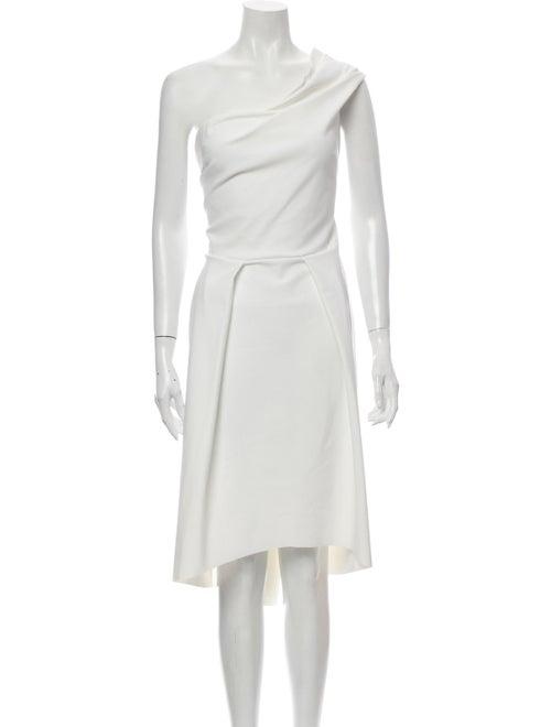 Chiara Boni One-Shoulder Midi Length Dress White