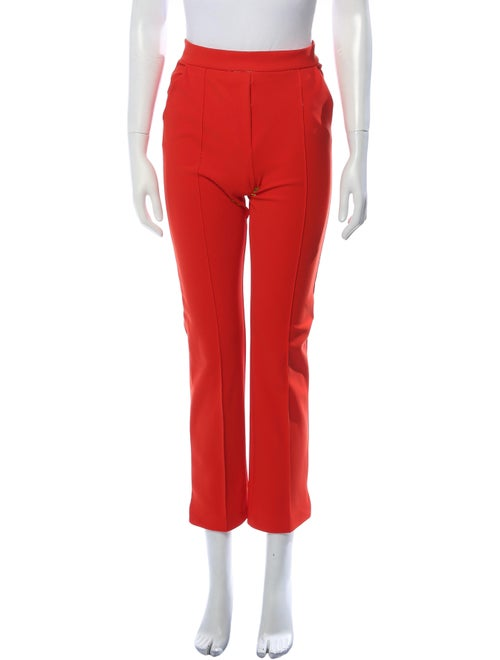 Chiara Boni Straight Leg Pants Red