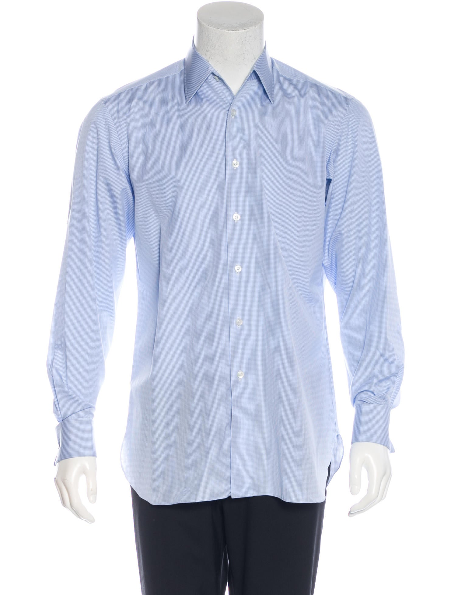 Charvet gingham french cuff shirt clothing wchrv20510 for What is a french cuff shirt