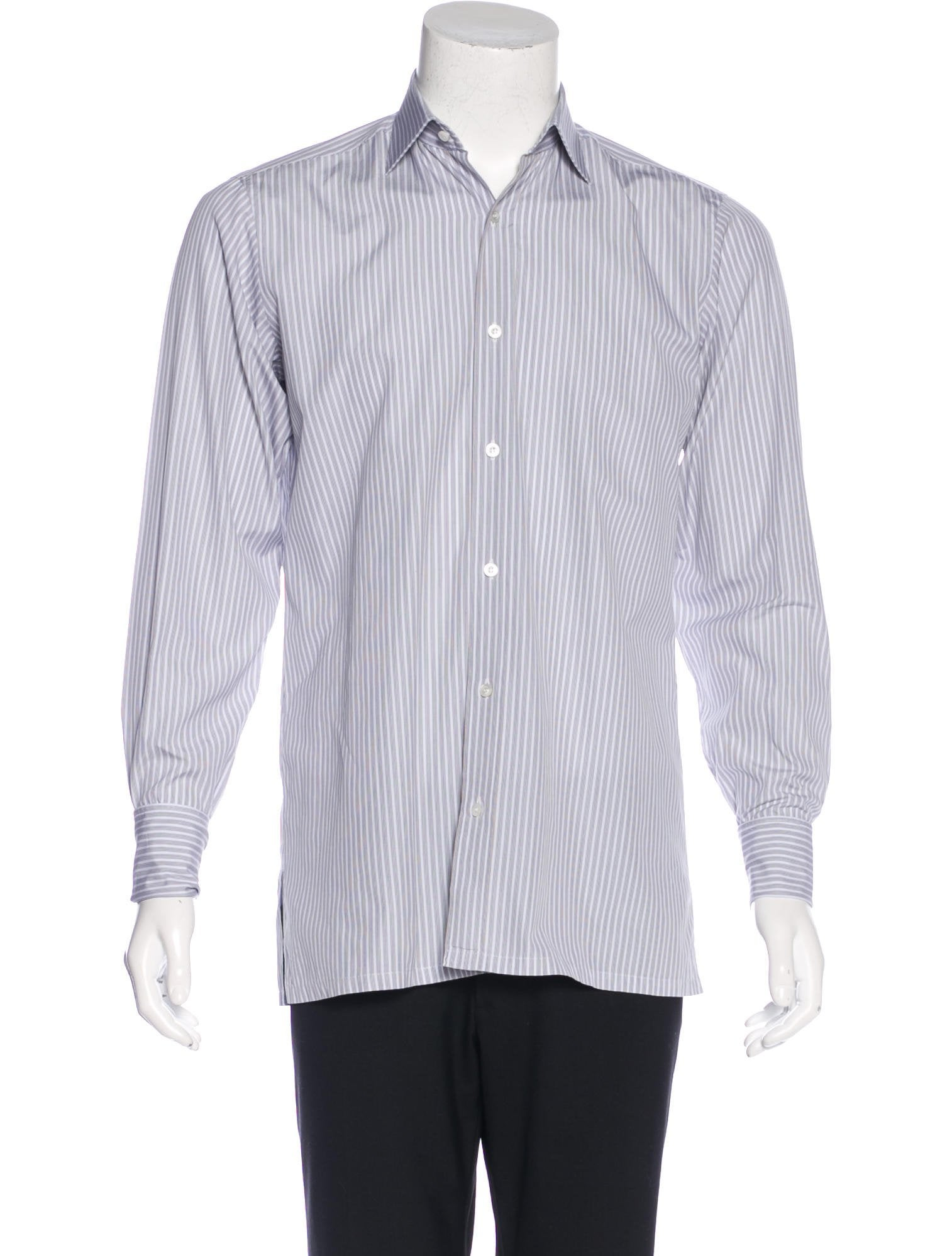 Charvet striped french cuff shirt clothing wchrv20591 for What is a french cuff shirt
