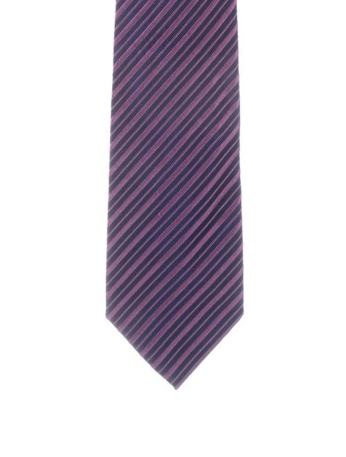 Charvet Striped Silk Tie red