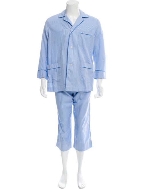 Charvet Gingham Pajama Set blue