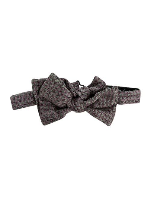 Charvet Silk Bow Tie grey